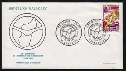Madagascar  TANANARIVE  1 Juin 1969 Sur N° Yv 463, FDC,  Automobile Club - Madagaskar (1960-...)
