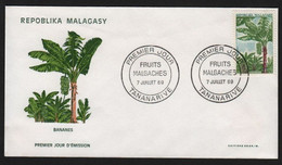 Madagascar  TANANARIVE 7 Juillet 1969 Sur N° Yv 465, FDC,  Fruits, Bananes - Madagaskar (1960-...)
