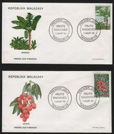 Madagascar  TANANARIVE 7 Juillet 1969 Sur N° Yv 465, 466, FDC,  Fruits, - Madagaskar (1960-...)