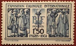 R1311/1218 - 1931 - EXPOSITION COLONIALE INTERNATIONALE - N°274 NEUF* - Cote (2020) : 50,00 € - Ungebraucht