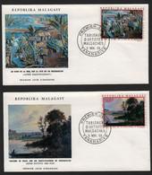 Madagascar  TANANARIVE 5 Novembre 1969 Sur N° Yv PA 110, PA 111, FDC, Artistes - Madagaskar (1960-...)