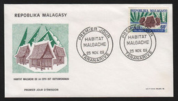 Madagascar  TANANARIVE 25 Novembre 1969 Sur N° Yv 471, FDC, Habitat - Madagaskar (1960-...)