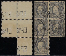 USA United States 1902 / 1944 Block Of 5 Stamp With PerfinEPCo By Eagle Pencil Company From New York - Perfins