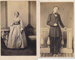 2 CDV - Portrait En Studio - Second Empire - Anonymes (Ca 1860) - Oud (voor 1900)
