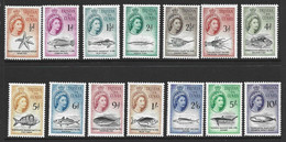 Tristan Da Cunha 1960 QEII Marine Life Definitives Set Of 14 MVLH - Tristan Da Cunha
