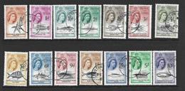 Tristan Da Cunha 1960 QEII Marine Life Definitives Set Of 14 FU - Tristan Da Cunha