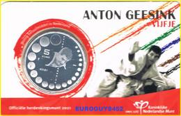 NEDERLAND - COINCARD 5 € 2021 UNC - ANTON GEESINK VIJFJE - Niederlande