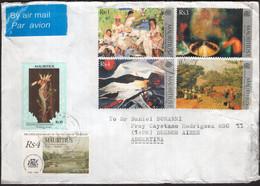 Ile Maurice- 1999 - Lettre - Par Avion - Envoyé En Argentine - Timbre Diverse -  Peintures - Art - Mauritius (1968-...)