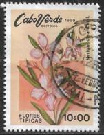 Cabo Verde – 1980 Flowers 10$00 Used Stamp - Kap Verde
