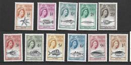 Tristan Da Cunha 1960 QEII Marine Life Definitives Short Set Of 11 To 1/- FM - Tristan Da Cunha