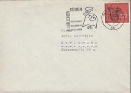 BRD  282 EF, Auf Brief  Mit Stempel: Stuttgart 1.2.1958 - Brieven En Documenten