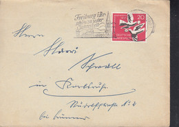 BRD  276 EF, Auf Brief  Mit Stempel: Freiburg 15.10.1957 - Brieven En Documenten