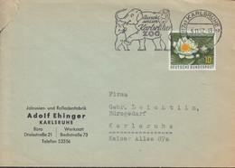 BRD  274 EF, Auf Ortsbrief Der Fa. Adolf Ehinger, Rolladen, Mit Stempel: Karlsruhe 5.11.1957 - Brieven En Documenten