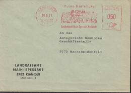BRD Freistempel 050 (Pfg.) Karlstadt 20.5.1977, Motiv Ruine Karlsburg - Marcofilie - EMA (Printmachine)