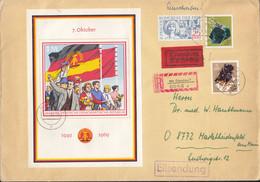 DDR  Block 29 + ZFr., MiF Auf R-Brief, Mit Stempel: Glauchau 14.10.1969 - Briefe U. Dokumente