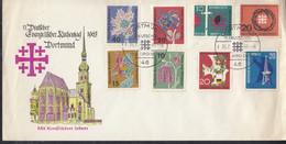 BRD  392-395, 397, 399, 405, Berlin 232 Auf Sonderumschlag Mit Sonderstempel: Dortmund Dt.Evang. Kirchentag 26.7.1963 - Brieven En Documenten