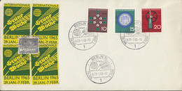 BRD  440-442 Auf Sonderumschlag Mit Sonderstempel: Berlin Int.Grüne Woche 29.1.1965, Mit 4 Vignetten: Grüne Woche - Brieven En Documenten