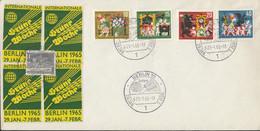 BRD  408-411 Auf Sonderumschlag Mit Sonderstempel: Berlin Int.Grüne Woche 29.1.1965, Mit 4 Vignetten: Grüne Woche - Brieven En Documenten