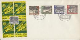 BERLIN  218-221 Auf Sonderumschlag Mit Sonderstempel: Berlin Int.Grüne Woche 29.1.1965, Mit 4 Vignetten: Grüne Woche - Briefe U. Dokumente