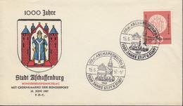 BRD  255, FDC, Stempel: Aschaffenburg - FDC: Brieven
