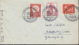BRD  253-255, Auf Brief Stempel: Aschaffenburg 1000 Jahre 19.6.1957 - Brieven En Documenten