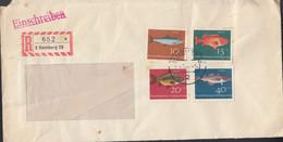 BRD 412-415, MiF, Auf R-Brief Mit Stempel: Hamburg 9.5.1964 - Brieven En Documenten