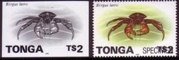 Tonga 1996 Proof + Specimen - $2.00 Crab - Read Description - Crostacei