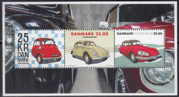 DÄNEMARK  Block 68, Postfrisch **, Oldtimer: BMW Isetta, VW Käfer, Citroen DS 21, 2017 - Blocks & Kleinbögen