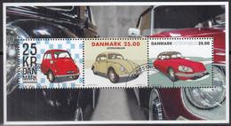 DÄNEMARK  Block 68, Gestempelt, Oldtimer: BMW Isetta, VW Käfer, Citroen DS 21, 2017 - Blocks & Kleinbögen