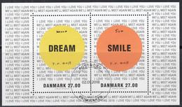 DÄNEMARK  Block 69, Gestempelt, Kunstausstellung: Yoko Ono, 2018 - Blocks & Kleinbögen