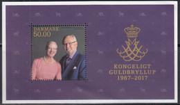 DÄNEMARK  Block 67, Postfrisch **, Goldene Hochzeit Königspaar, 2017 - Blocks & Kleinbögen