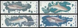 Namibia 2015 MiNr. 1520 - 1523  Marine Life Fishes Sharks 4v MNH** 7,90 € - Pesci