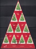 FINNLAND  2206, 1/2 Folienbogen (10), Gestempelt, Weihnachten, 2012 - Blocks & Kleinbögen