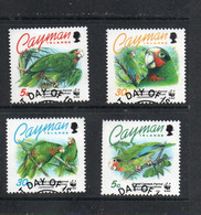 WWF - CAYMAN ISLANDS - 1993- WWF CUBAN AMAZON PARROT SET FO 4 FINE USED - Pappagalli & Tropicali