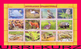 TRANSNISTRIA 2013 Nature Fauna Birds Animals Reptiles Amphibians Natural Reserve Jagorlyk Sheetlet MNH - Non Classificati