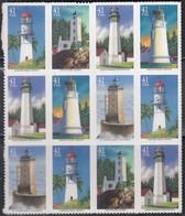 USA 4233-4237, (4x4), Postfrisch **, Leuchttürme Am Pazifik, 2007 - Unused Stamps