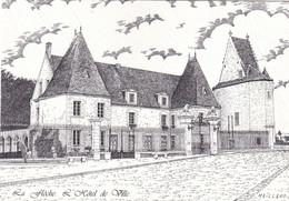 72, La Flèche, L'Hôtel De Ville, Dessin à La Plume : Alain Maillard - La Fleche
