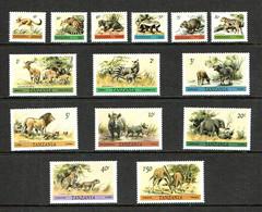 Tanzania 1980 Sc # 161 / 174  MNH **  Wildlife Animals - Non Classificati
