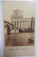 Photo CDV Paris L'Hôtel De Ville Et Le Pont Royal Vus De La Seine 1860 Tuileries - Oud (voor 1900)