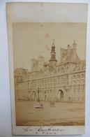 Photo CDV Paris Place De L'Hôtel De Ville Intitulée Les Tuileries Années 1860 - Oud (voor 1900)