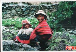 Peru - 1990 - Tarjeta Postal - Cusco - Niños De Huillocc - A1RR2 - Pérou