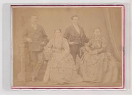 """Photo Foto - Formato """"SuperAlbum"""" - Due Coppie Di Signori - Years '1870 - Luigi Marchisio, Torino - Oud (voor 1900)"""