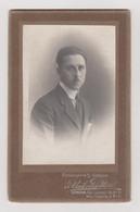 Photo Foto - Formato CDV Maggiorata - Uomo Con Baffetto - Years '1910 - Umberto Pitteri, Fotografia S. Giorgio, Genova - Oud (voor 1900)