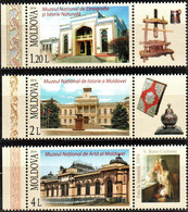 """Moldova 2014 """"National Museums Of The Republic Of Moldova"""" 3v Zf Quality:100% - Collections (en Albums)"""