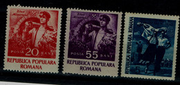 ROMANIA 1952 MINER'S DAY MI No 1402-3 MNH VF!! - Nuevos