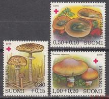 Finland 1978 Edible Mushrooms Stamps 3v MNH - Ungebraucht