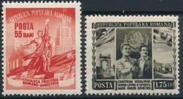 Romania 1952 Month Of The Romanian-Soviet Friendship Stamps 2v MNH - Nuevos