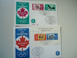 GERMANY  2  FDC STAMPS AND SHEET  OLYMPIC GAMES MONTREAL  1976 - Verano 1976: Montréal