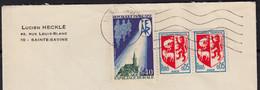 """Blason AUCH Y.et.T.1468 """" LA PAIRE """" + Aide Familiale 40c Y.et.T.1682 Sur Enveloppe De 10 STE-SAVINE  Le 5 8 1971 - Briefe U. Dokumente"""