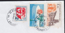 Blason AUCH Y.et.T.1468  + Montpellier 2f10 Num.2350 + Picardie 85c Num 1847 Sur Enveloppe De 14 ST-AUBIN.s.MER 1998 - Briefe U. Dokumente